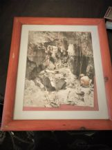 VINTAGE FRAMED GLAZED ORIGINAL PHOTOGRAPHS SHADOW COLLAGE AUSTRALIA BUSH 1985